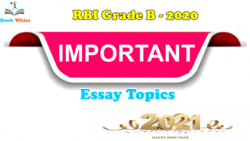 RBI Grade B 2020 - Most Important Essay Topics