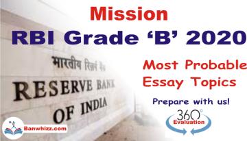 RBI Grade B 2020 - Most Important Essay Topics