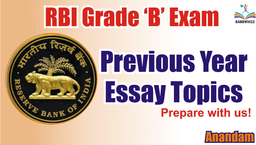 RBI Grade B Previous Year Essay Topics