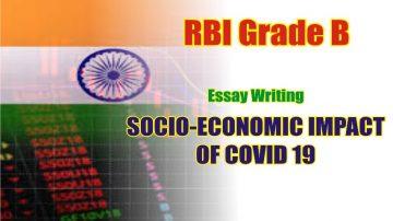 RBI Descriptive Paper Essay Writing on Socio-economic impact of COVID19