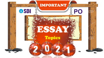 Most Probable Essay Topics for SBI PO-2020