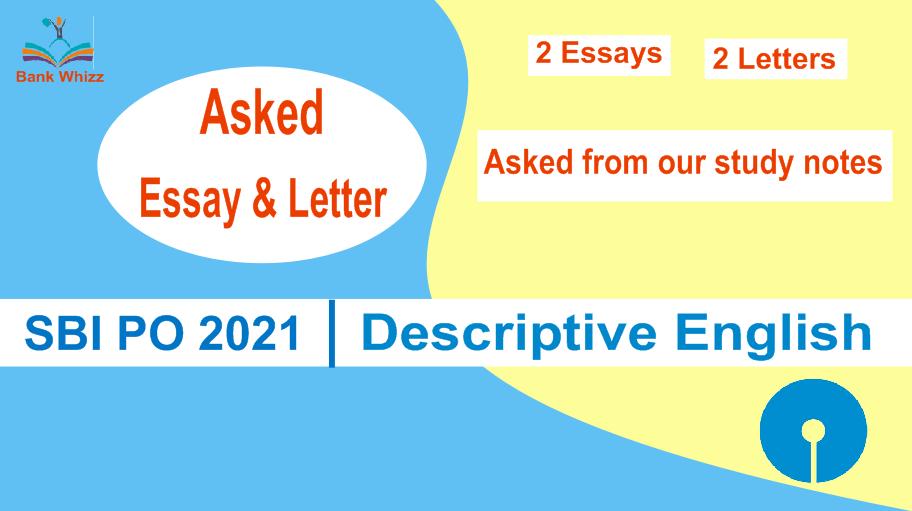 essay letter asked in sbi po