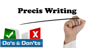 precis writing tips and strategy