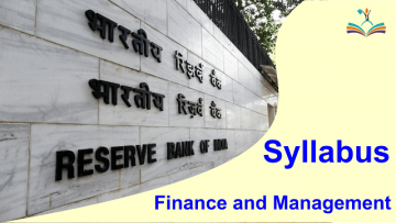 syllabus Finance and Management