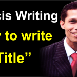 How to write a title