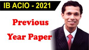 IB ACIO previous year paper