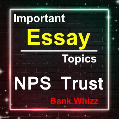 NPS Important Essay Topics