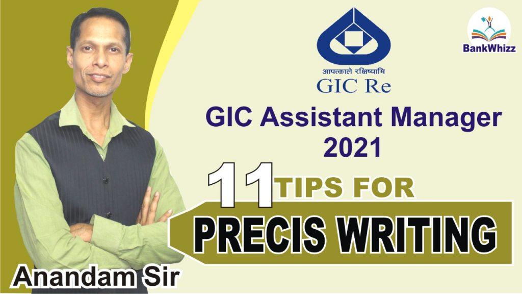 Precis Writing GIC 2021