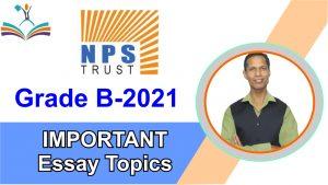 NPS Trust Important Essay Topics