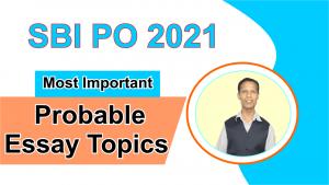 SBI PO most important essay topics