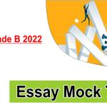 Essay Mock RBI Grade B 2022