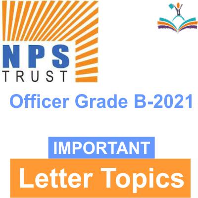 NPS Trust letter topics 2021