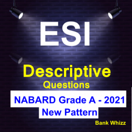 ESI Descriptive Questions for NABARD Grade A 2021 (New Pattern)