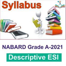 Descriptive ESI Syllabus - NABARD