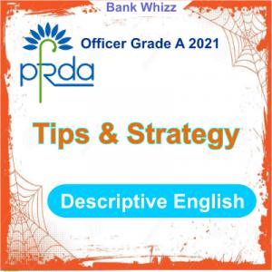 PFRDA Officer Grade A 2021 Descriptive English