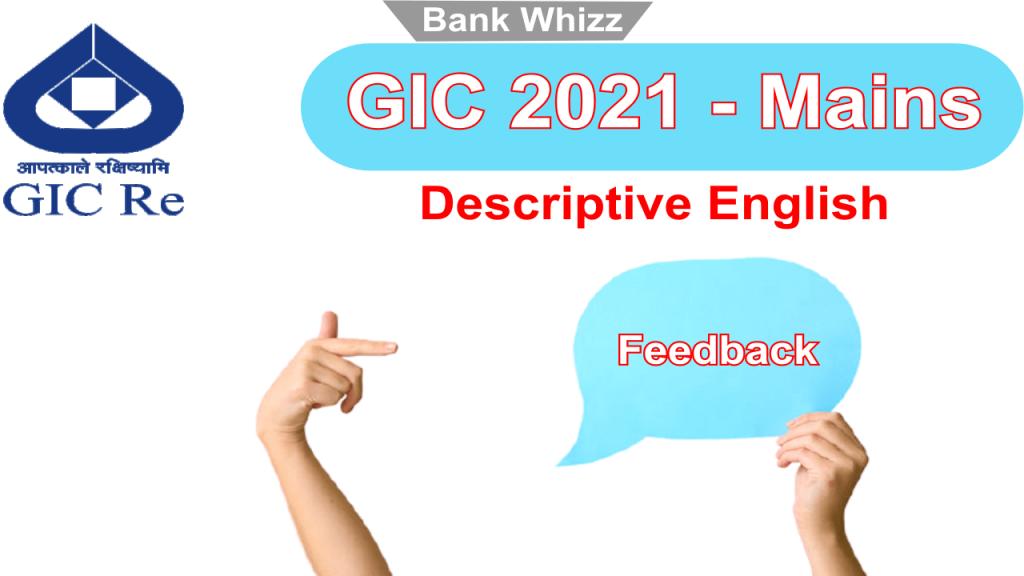 GIC 2021 Mains feedback