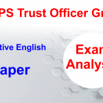 NPS Trust Officer Grade B Exam analysis